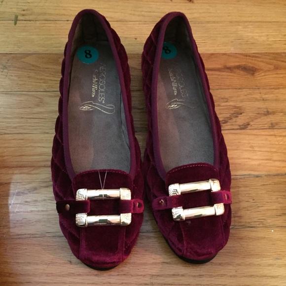 87fd6335667 AEROSOLES Shoes - Aerosoles Stitch N Turn Burgundy Quilted Flats